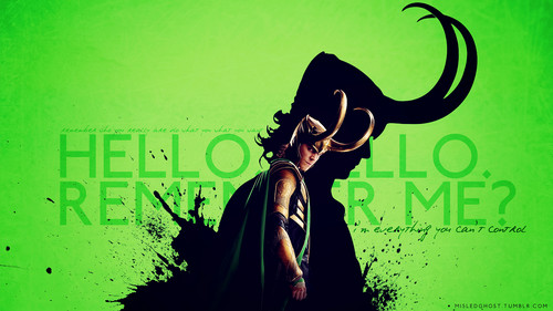 Loki (Thor 2011) پیپر وال possibly containing a sign titled Loki