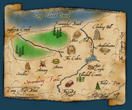 Map of Camp Half-Blood