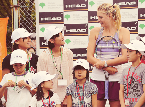 Maria with kids