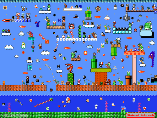 Super Mario Bros. wallpaper entitled Mario vs the World