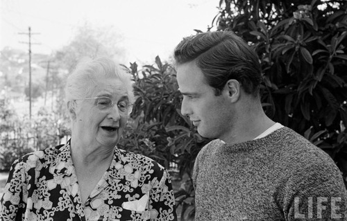 Marlon with his Grandmother