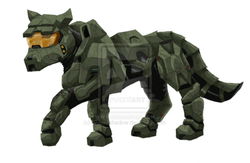 Master Chief as a wolf.