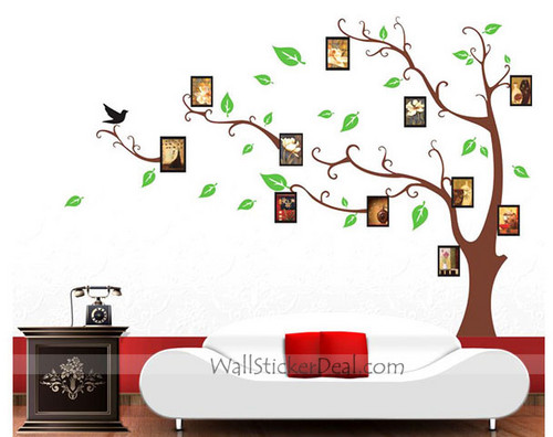 Memory arbre photo Frame mur Stickers