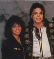 Michael And Older Sister, Rebbie - michael-jackson photo