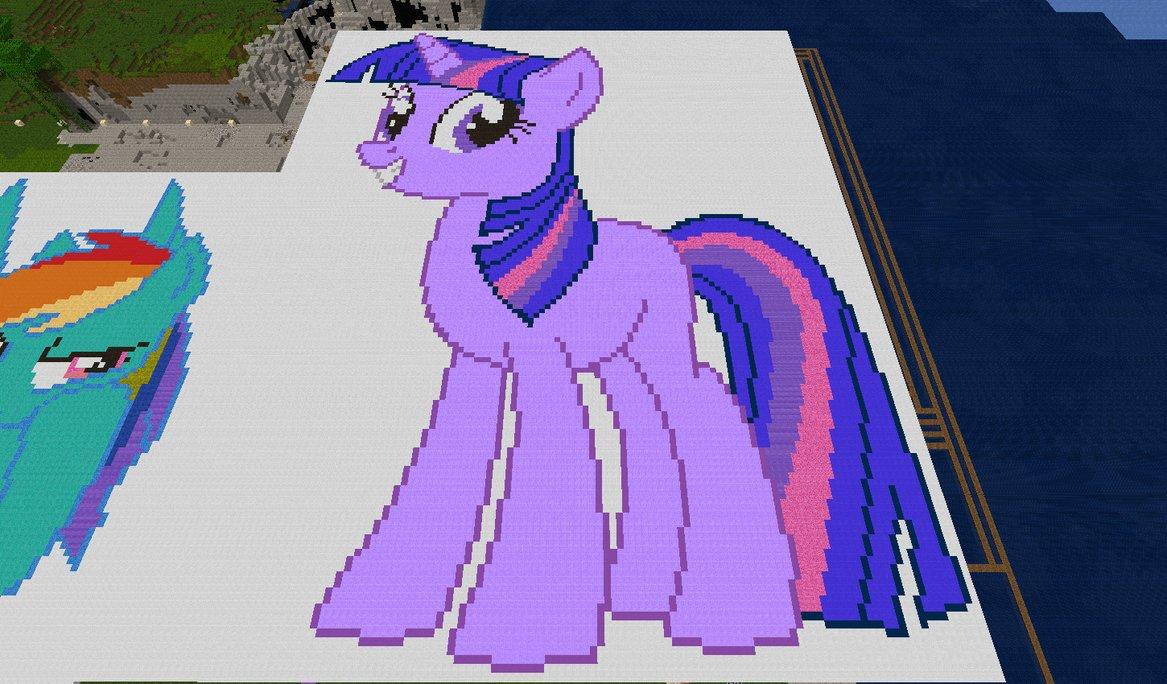 Дружба - это чудо Обои Minecraft (Майнкрафт) Ponies! HD Обои and background фото (32378485)