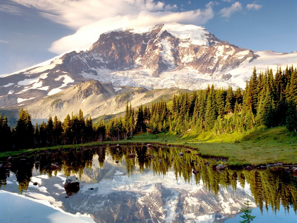 usa national parks images mount rainier hd wallpaper and background