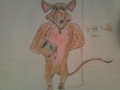 My OC as a sewer rat. ( about the same size as me, but shorter. My Ratinized OC is 5ft7)