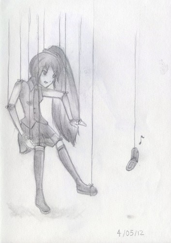 Anime Drawing Hintergrund possibly with Anime titled Neru is a Marionette