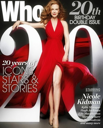 Nicole on the cover of Who Magazine 20th Anniversary Issue