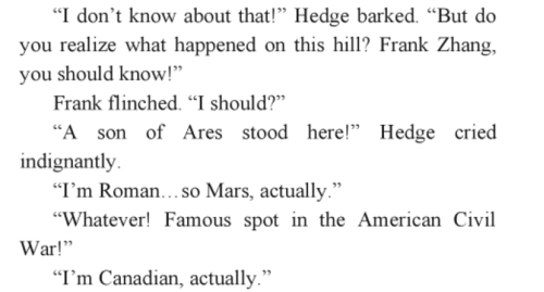 Helden des Olymp Hintergrund called OMG FRANK LOL MOA SPOILER-- DON'T READ!!