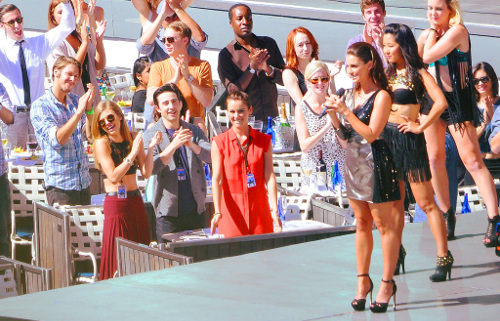 On set of 90210 season 5