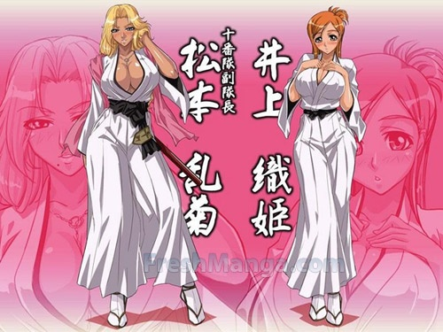 anime ya Bleach karatasi la kupamba ukuta containing anime titled Orihime Rangiku