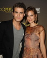 Paul and Torrey at Entertainment Weekly's Pre-Emmy Party (2012) - paul-wesley-and-torrey-devitto photo