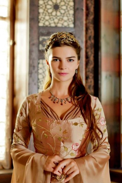 Actresses Pelin Karahan as Hurrem Sultan's daughter in Muhtesem Yuzyil