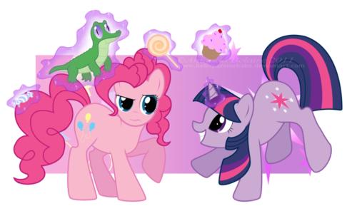 Pinkie Pie and Twilight Sparkle Reversed