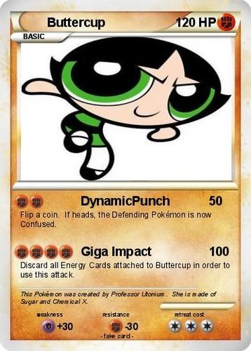 Powerpuff Buttercup 神奇宝贝 TCG card