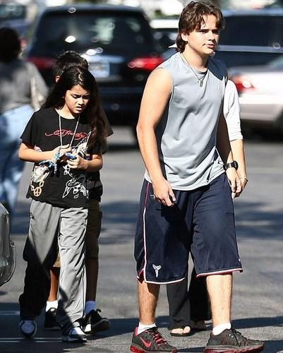 Blanket Jackson and his brother Prince Jackson out in Calabasas ♥♥ NEW October 1st 2012