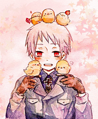 hetalia fondo de pantalla containing anime titled Prussia's Bird Army