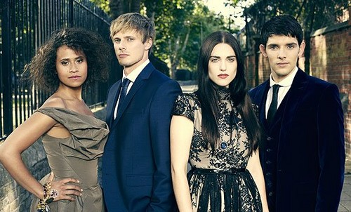 Merlin on BBC wallpaper containing a business suit and a bridesmaid called RadioTimes Photoshoot