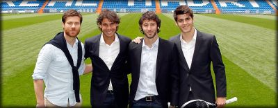 Rafa Nadal and Real Madrid players