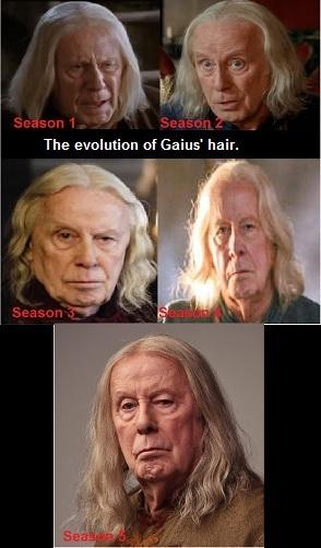 aleatório Perfection: Gaius' Hair Through The Seasons