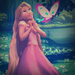 Rapunzel on Alice in Wonderland background - disney-crossover icon