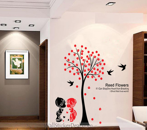Reed Flower If I Can Stop One Heart From Breaking I Shall Not Live World Wall Stickers
