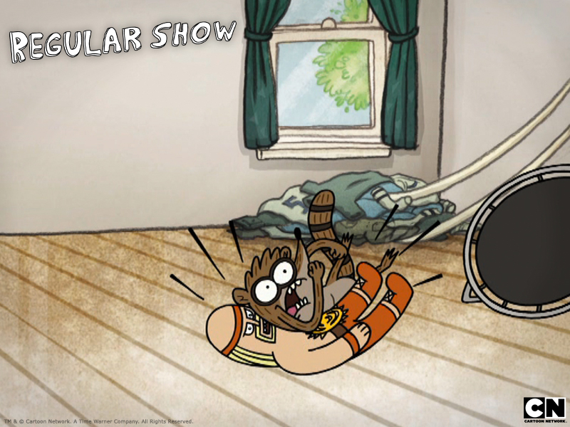 Rigby the Raccoon from regular show