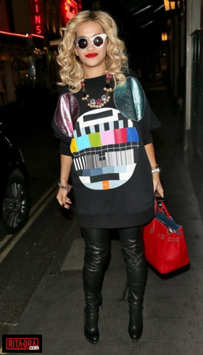 Rita Ora - At The Ivy Club In London - August 28, 2012