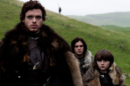 Jon Snow and Robb Stark wallpaper containing a pelliccia cappotto and a visone called Robb and Jon