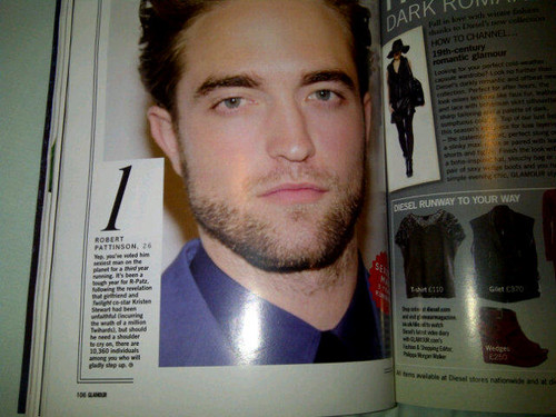 Robert named Glamour UK Magazine's Sexiest Man in the World for 2012