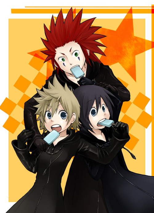 Roxas, Xion and Axel