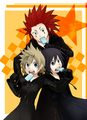Roxas, Xion and Axel - kingdom-hearts fan art