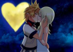 Kingdom Hearts fond d'écran entitled Roxas and Namine