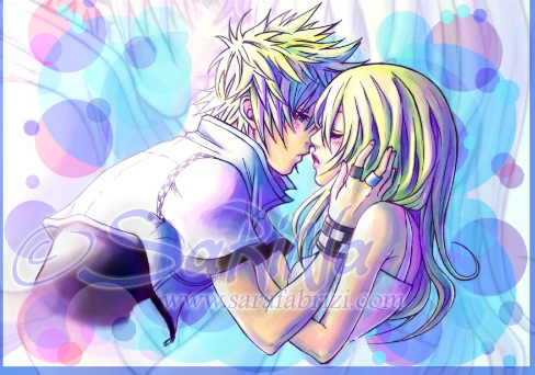 kingdom hearts wallpaper possibly containing animê entitled Roxas and Namine