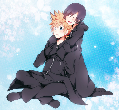 Kingdom Hearts Обои called Roxas and Xion