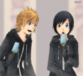 Roxas and Xion - kingdom-hearts fan art
