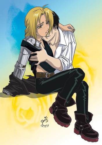full metal alchemist couples wolpeyper possibly with a hip boot and anime called Roy & Ed <3