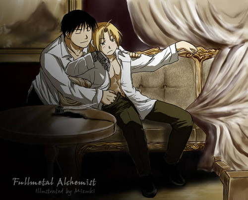 full metal alchemist couples wolpeyper with a drawing room entitled Roy & Ed <3