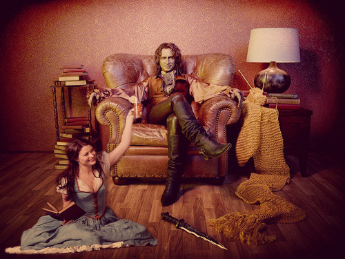 Once Upon A Time wallpaper entitled Rumpelstiltskin & Belle