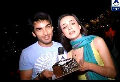 Sanaya with Mohit sehgal