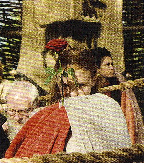 Sansa Stark- behind the scenes photo