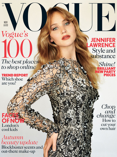 Scans: Jennifer in 'Vogue UK' - November 2012.