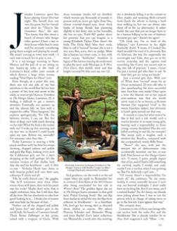 Scans: Jennifer in 'Vogue UK' - November 2012.