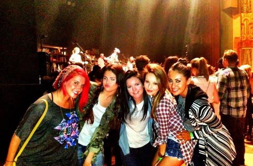Selena Gomez, Sammy Droke, Francia Raisa and Ashley Cook