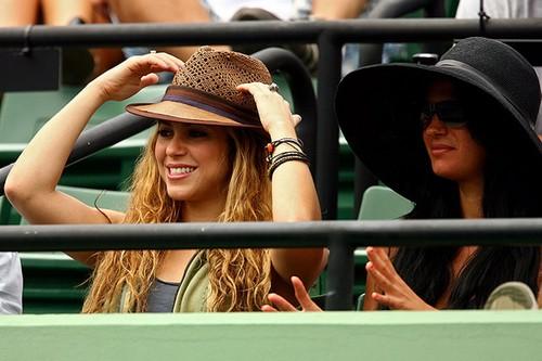 Shakira and Nadal: 3 years she went to cheer him !