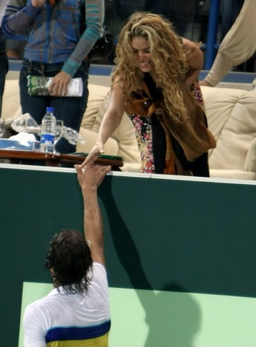 夏奇拉 and Nadal: 3 years she went to cheer him !