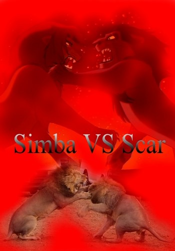 o rei leão wallpaper possibly containing an embryonic cell titled Simba VS Scar