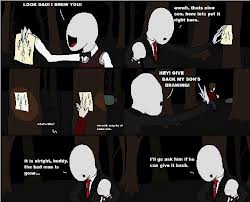 The Slender Man wallpaper titled So that's why he's chasing us....