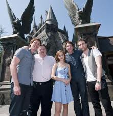 Some of the Harry potter cast at the wizading world of harry potter